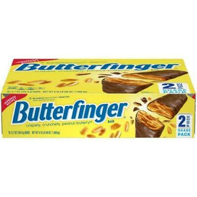 Butterfinger Candy Bars 2 Piece Share Pack 18 - 3.7 oz Bars Per Box