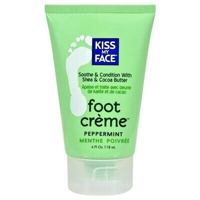 Kiss My Face Foot Creme Peppermint 4 Oz New ()