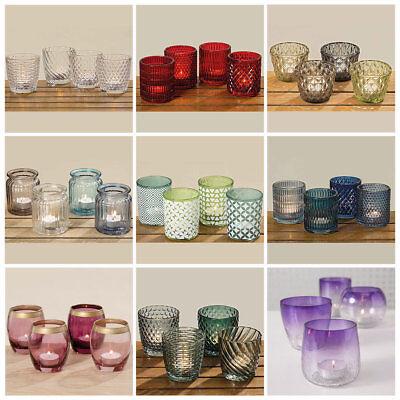 Deko Teelichthalter 3er 4er Set Teelichtgläser Windlicht Winlichthalter