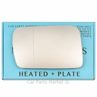 Left side Wide Angle Wing mirror glass for Jeep Commander 06-10 heated + plate