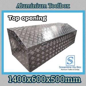 1400x600x500mm Aluminium Toolbox Top Opening Cylinder lock Ute