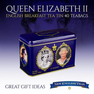 Queen Elizabeth II English Breakfast Tea Tin 40 Teabags