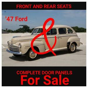 Seats and door panels for 1947 Ford Sedan