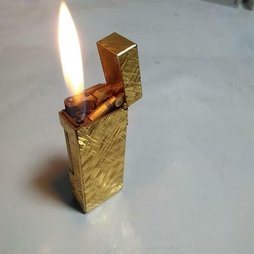 Dunhill Roller gas Gold Plated Lighter ignition confirmed
