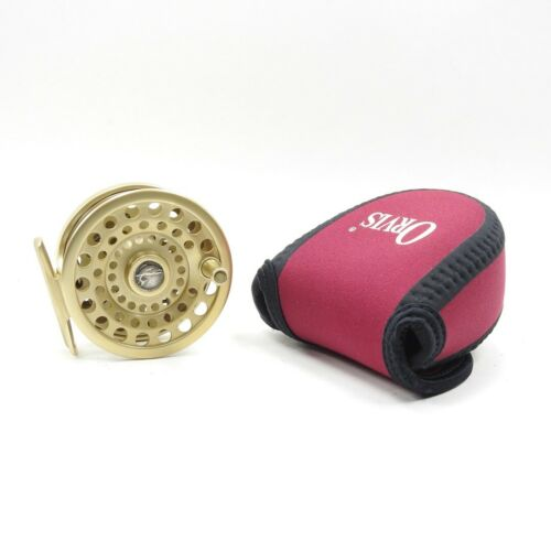 """Gold Orvis CFO Saltwater Fly Fishing Reel. """"Light"""". Made in Argentina. 3 1/4""""."""