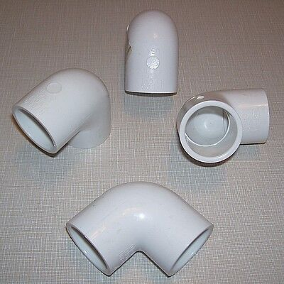 Lot Of 4 New Nsf-pw 1 Pvc 1 Sch40 D-2466 Elbow 90 Degree Plumbing Fittings