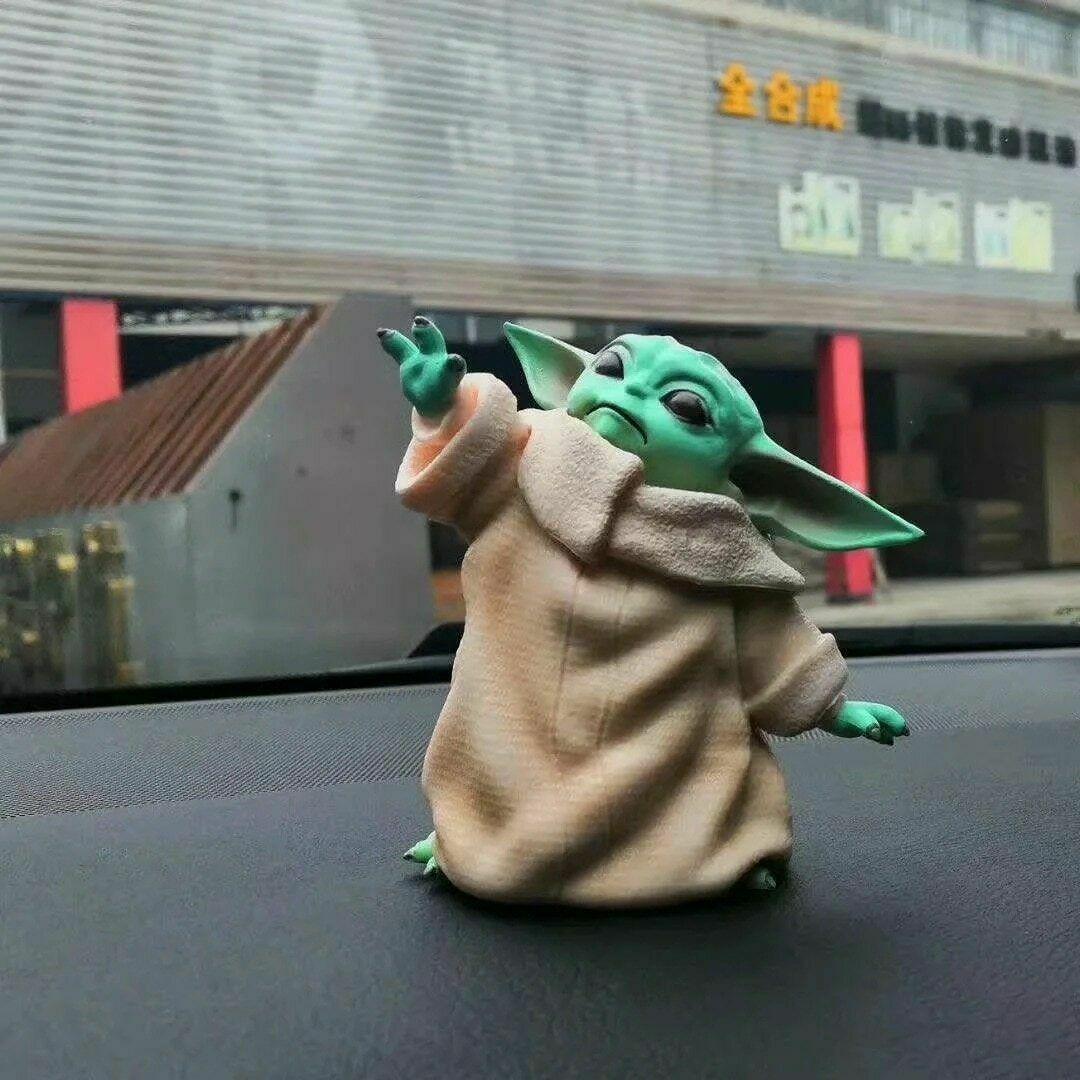 Star Wars Mandalorian Baby Yoda Pvc Figure Toy The Force Awakens Anime Doll Ebay