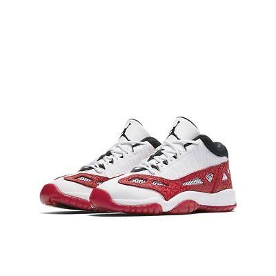 (Boys Air Jordan 11 Retro Low IE BG 919713-101 White/Gym Red Brand New Size 6.5Y)