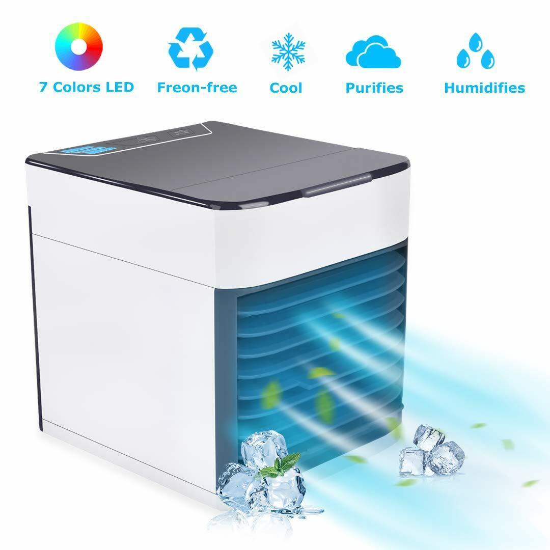 Air Cooler Fan, Portable Air Conditioner, Humidifier, Purifi