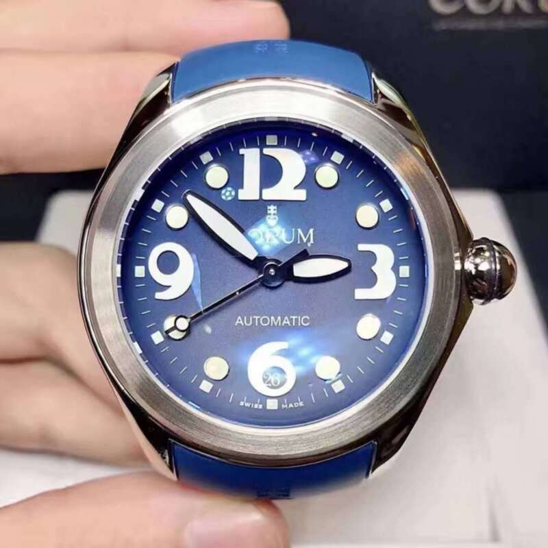 New Corum 47mm Blue Bubble Dial Steel Automatic Watch - watch picture 1