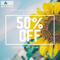 50% off residential spring cleaning