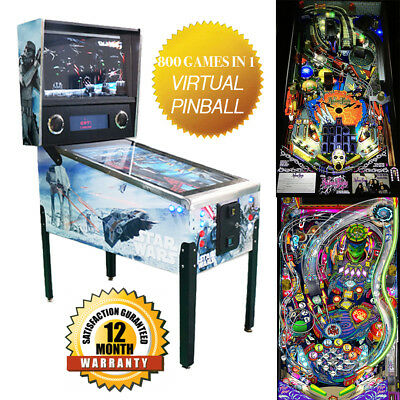 "800 Games in 1 Virtual Pinball Machine Star Wars - 43"" LED Arcade - BRAND NEW"