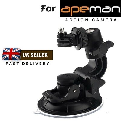 Suction Cup Mount (Car Windscreen Suction Cup Mount Holder for Apeman A60 A66 A70 A80 Action Cams )