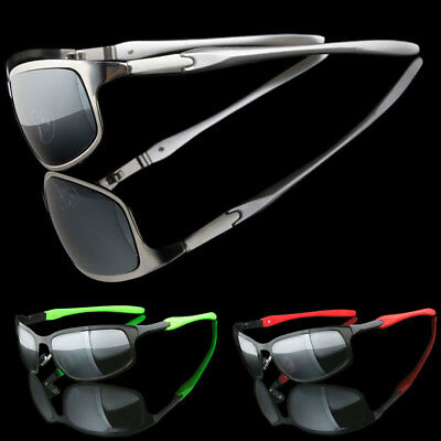 Mens Wraparound Metal Sport Cycling Sport Hiking Wrap Sunglasses Shades (Men Sunnies)