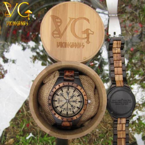 Vegvisir Handmade Viking Wooden Watch