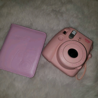 Instax Polaroid Camera Light Pink With Photo Album