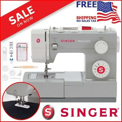 Singer Heavy Duty Sewing Machine Portable Industrial Leather Embroidery Craft -