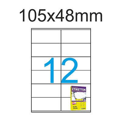 Klebe Etiketten 105x48 mm 120 Stück 10 A4 Blätter SK Etiketten 105 x 48