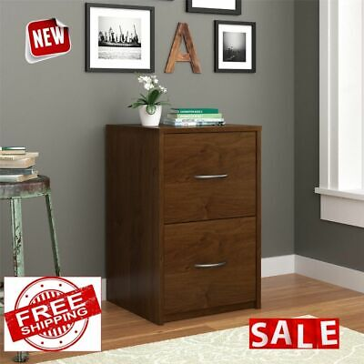 2 Drawer File Cabinet Wood Filling Home Office Letter Document Storage Organizer