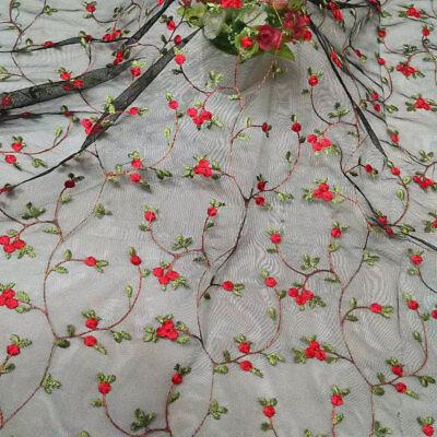 Blumenmuster Hochzeit Kleid DIY Tüll Bestickt Corded Braut - Baumwolle Bestickt Kostüme