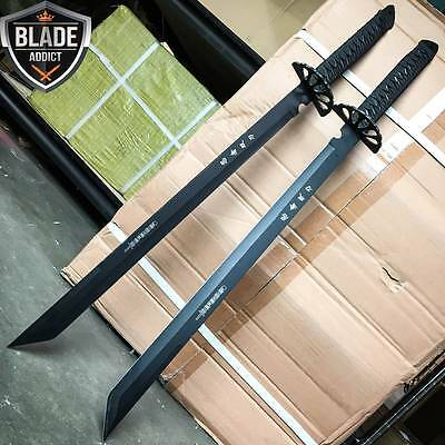 "2 PC Large Full Tang 26"" Ninja Samurai Twin Tanto Blade Sword Machete Katana"