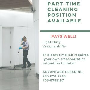 Part time Janitorial Job available immediately.