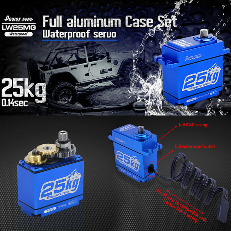 POWER HD LW-25MG Waterproof FULL Aluminum Case Digital Servo  347.2 oz/in