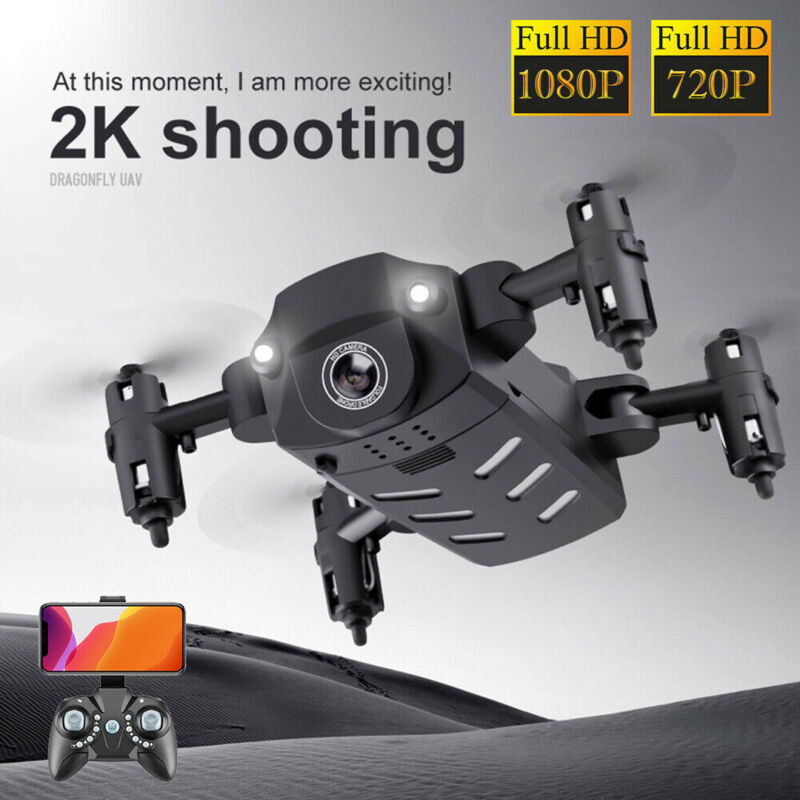 Mini Folding Drone 720/1080P HD Camera WIFI 4-Axis Altitude Hold Kits Quadcopter