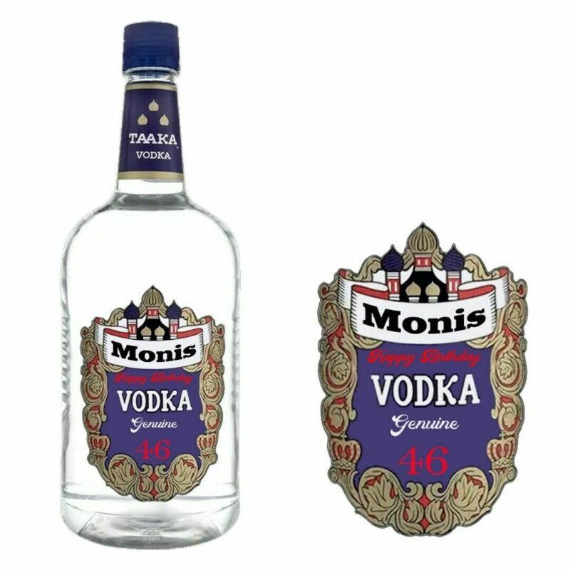 Personalised Taaka vodka Bottle Label for Birthday Christmas Any Occasion BL399