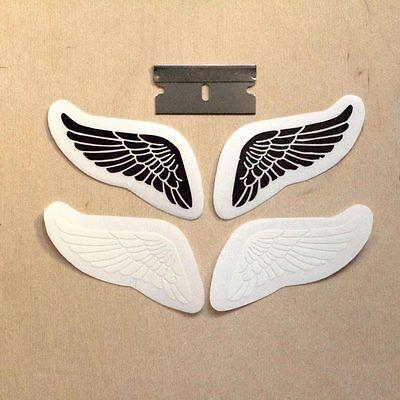 Angel wings sticker set bird feathers heaven dove bumper decal vinyl black white