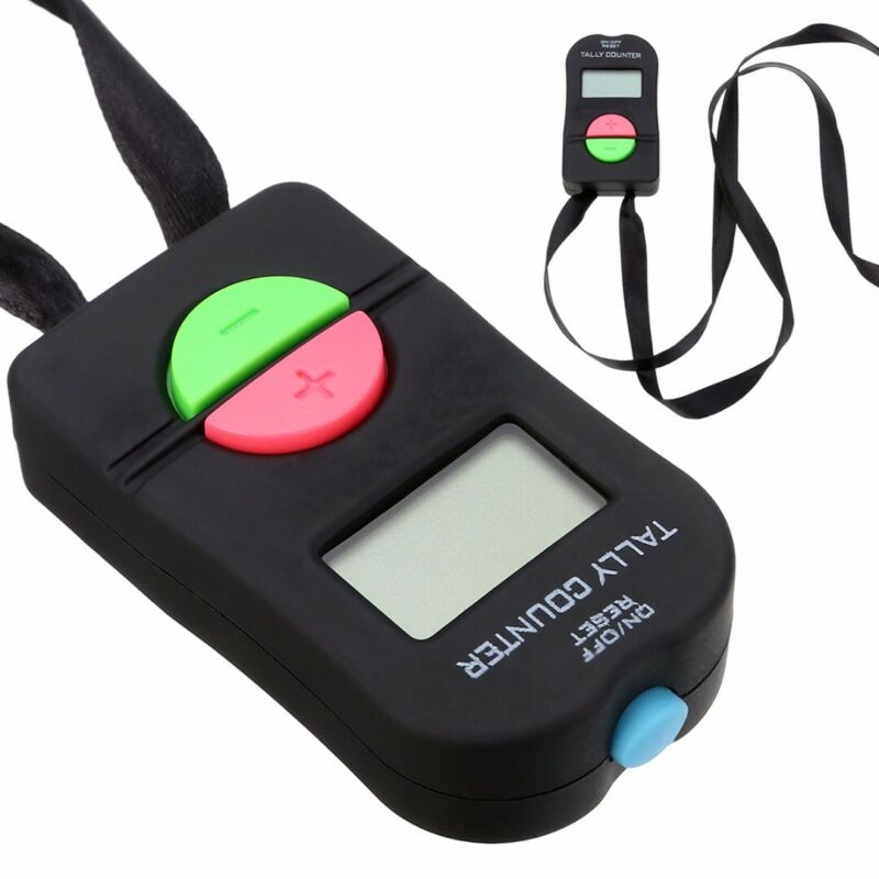 Digital Tally Counter Electronic Hand Held Clicker Golf Gym Club Counting