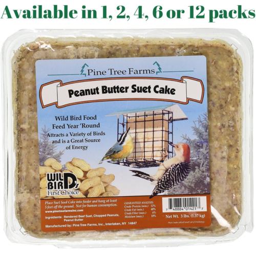 Pine Tree Farms Peanut Butter Suet Cake 3 Pounds
