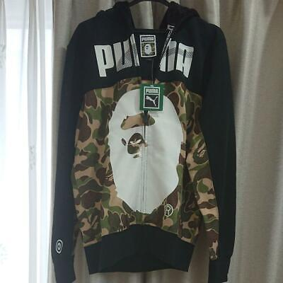 A BATHING APE x PUMA Collaboration Camouflage Shark Full Zip Hoodie Jacket XS