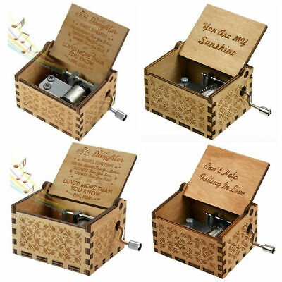 Wooden Music Box Mom/Dad To Daughter You Are My Sunshine Engraved Toy Kid Gift](You Are My Sunshine Gifts)
