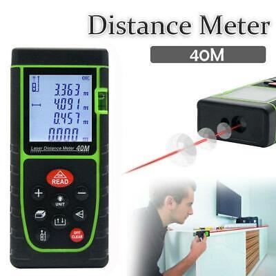 40m Handheld Digital Laser Distance Meter Finder Measure Tape Range Finder Tool