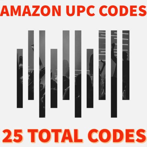 UPC Codes & Barcodes, Amazon UPC Codes (25 codes)