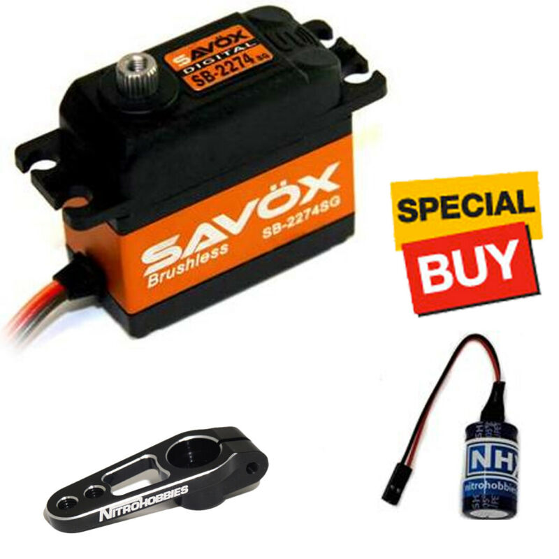 Savox High Speed HV Brushless Digital Servo w/ Black Alum Horn / Glitch Buster