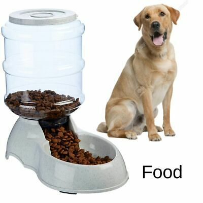 Large Dog Food Dispenser Storage Container Pet Cat Gravity Bowl Feeder Automatic ()