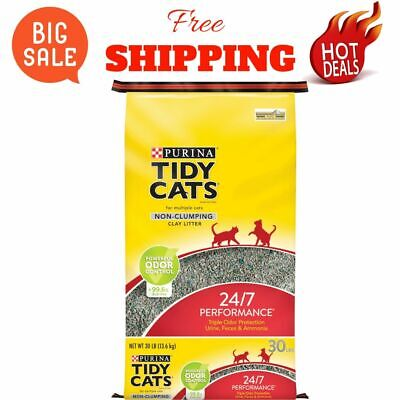 Cats Non Clumping Cat Litter 24/7 Performance Multi Cat Litter - 30 lb. Bag NEW Multi Cat Litter