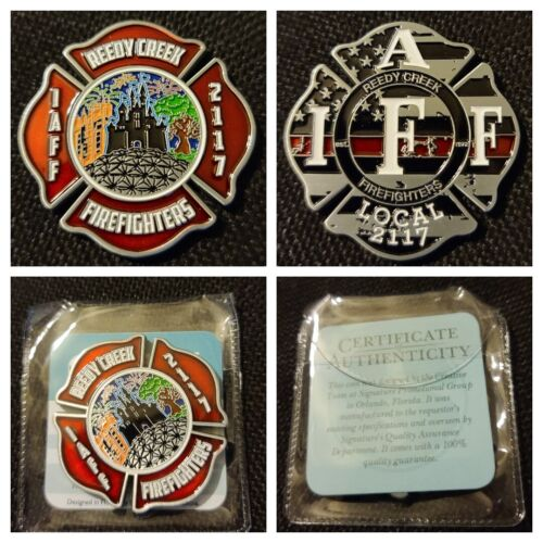 Florida - NEW Reedy Creek Firefighters IAFF Local 2117 Challenge Coin DISNEY