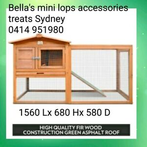 ♥Rabbit hutch guinea pig hutch & run package deals mini lop $180