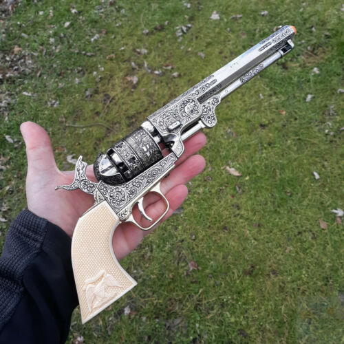Denix Civil War 1851 Navy Revolver Replica Pistol Non-Fire Antique Finish Art