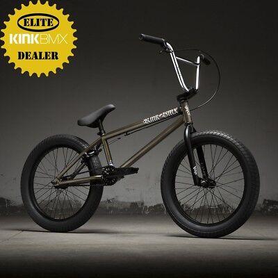 "2019 Kink Curb 20"" BMX Bike (Gloss Nickel) Complete BMX Bike"