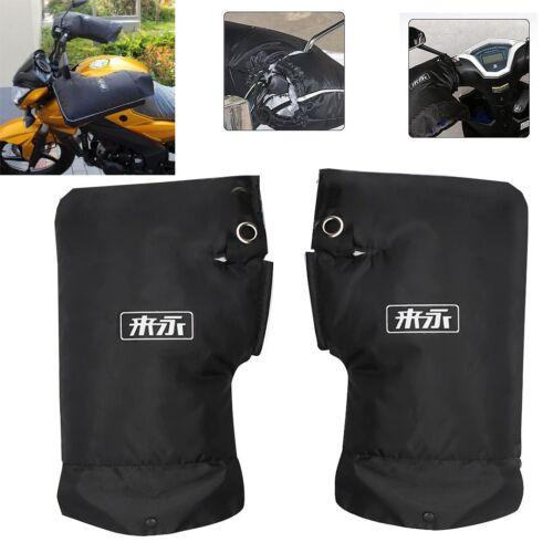 Handlebar Hand Muffs Warmer Winter Motorcycle Scooter Bike Gloves Durable Black