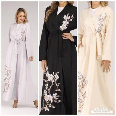 kimono muslim Open  Abayas  farasha  jalabiya Embroidery burka Jilbab