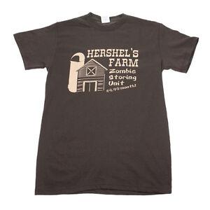 Men-s-Hershel-s-Farm-Zombie-Storing-Unit-Walking-Dead-Graphic-T-Shirt-Brown