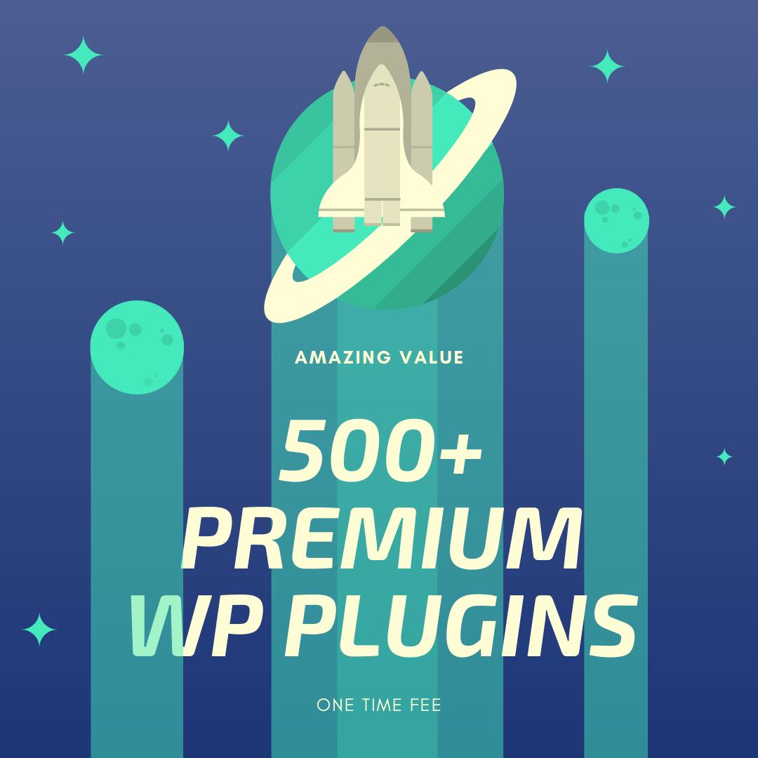 500+ Premium Wordpress Plugins & Themes