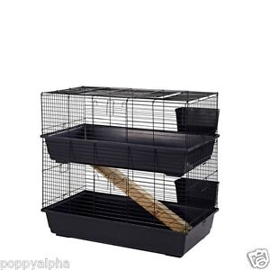 Rabbit guinea pig indoor cage hutch 80cm 100cm 80 100 for Floor 80 100 floors