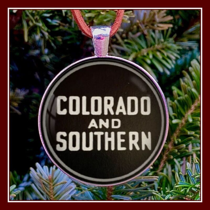 Colorado And Southern Railway Sign Photo Ornament Model Train Gift RR