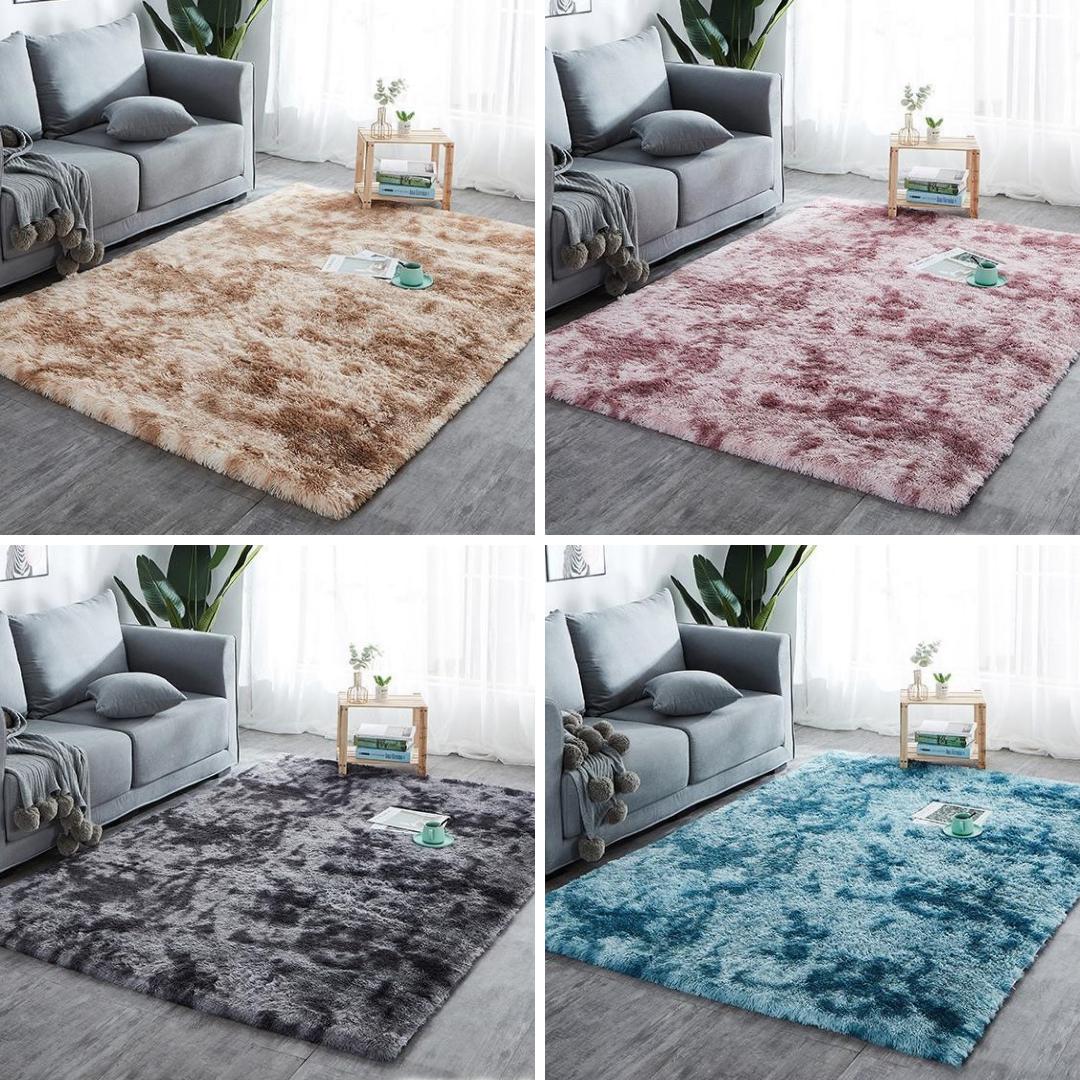 Teppich Hochflor Shaggy Flokati Langflor Läufer Fußmatte Weich Farben und Größen